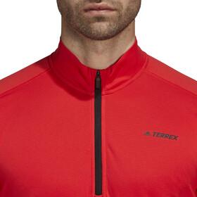 adidas TERREX TraceRocker Longsleeve Shirt 1/4 rits Heren, hi-res red